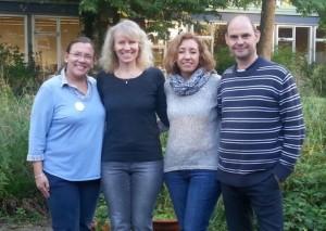 Annette Bleß mit LehrerInnen des Colegio Cristo Rey